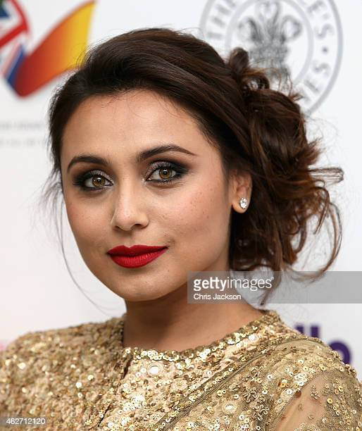 Indian actress Rani Mukerji attends the British Asian Trust dinner at Banqueting House on February 3 2015 in London England