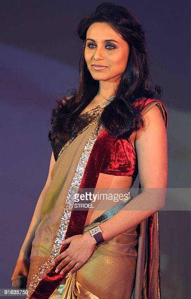 Indian actress Rani Mukherjee poses at the launch of �Dance Premier League� television show in Mumbai late October 8 2009 AFP PHOTO/STR
