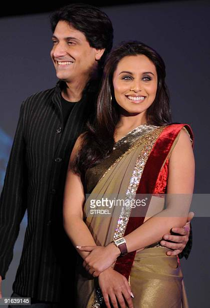 Indian actress Rani Mukherjee poses with Shiamak Davar at the launch of �Dance Premier League� television show in Mumbai late October 8 2009 AFP...