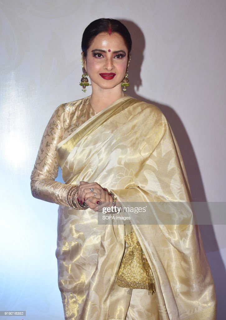 Indian actress Rekha present at the 5th Yash Chopra Memorial Award at hotel JW Marriott Juhu in Mumbai