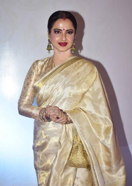 Indian actress Rekha present at the 5th Yash Chopra Memorial Award at hotel JW Marriott Juhu in Mumbai