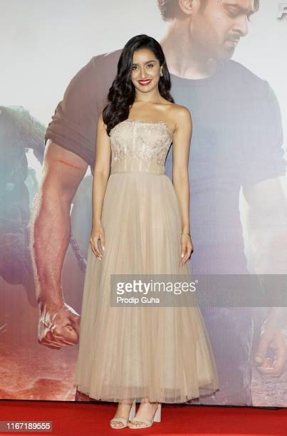 Indian actress Shraddha Kapoor attends the launch of the film 'Saaho on August 10 2019 in Mumbai India