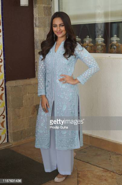 Indian actress Sonakshi Sinha attends the media interview for film Promotion Khandaani Shafakhana on June 22 2019 in Mumbai India