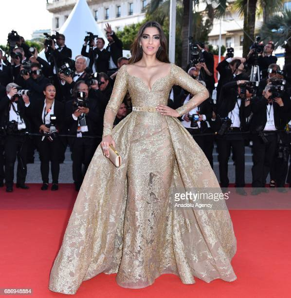 Indian actress Sonam Kapoor arrives for the premiere of the film 'The Killing of a Sacred Deer' in competition at the 70th annual Cannes Film...