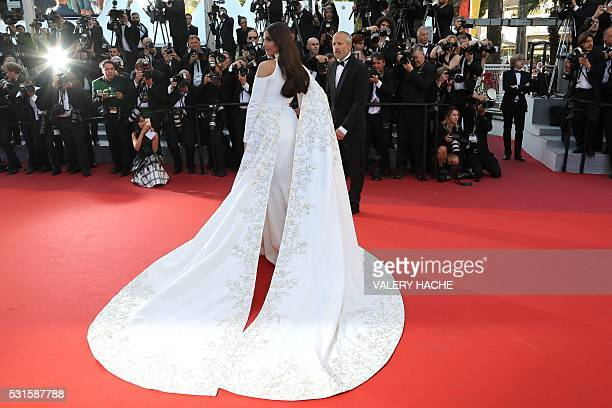 """Indian actress Sonam Kapoor poses as she arrives on May 15, 2016 for the screening of the film """"Mal de Pierres """" at the 69th Cannes Film Festival in..."""