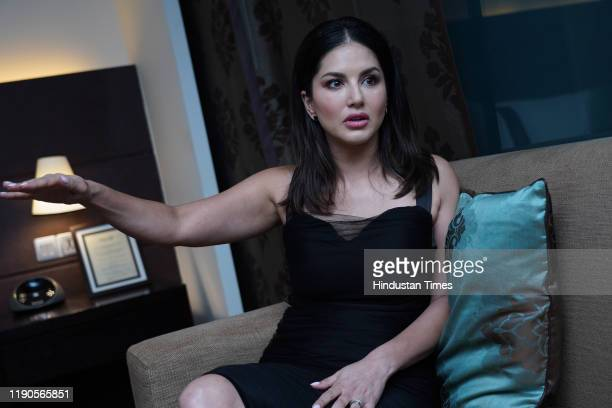 Indian actress Sunny Leone during an exclusive interview with Hindustan Times, on December 18, 2019 in New Delhi, India.