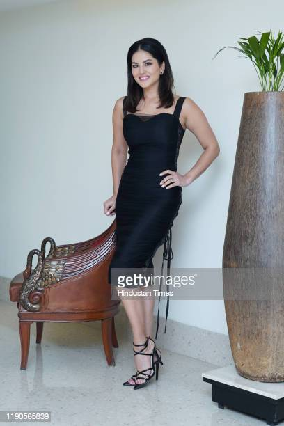 Indian actress Sunny Leone poses during a profile shoot, on December 18, 2019 in New Delhi, India.
