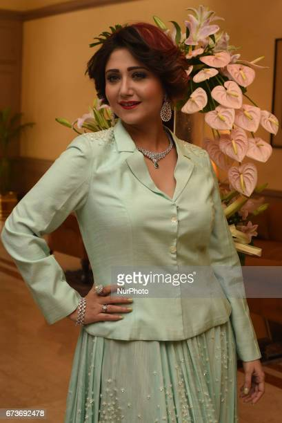 Indian Actress Swastika Mukherjee at the Lunches Divinus Creation new Diamond Jewellery collection on April 252017 in KolkataIndia