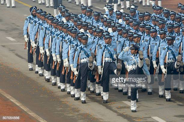 Indian Air Force contingent during the 67th Republic Day Parade at Rajpath in New Delhi