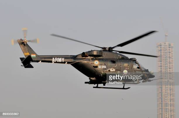 Indian air Force showing IA 2112 attack helicopter during the Vijay Diwas a ceremony to celebrate the liberation of Bangladesh by the Indian Armed...