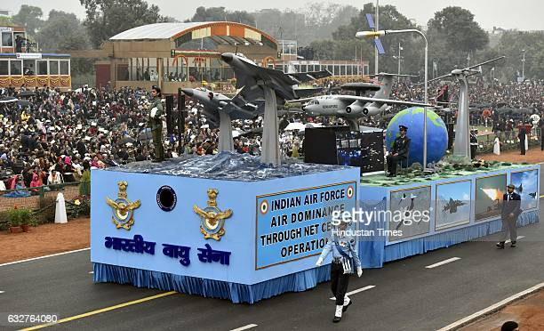 Indian Air Force Tableau passing during the celebration of the 68th Republic Day at Rajpath on January 26 2017 in New Delhi India India celebrates...