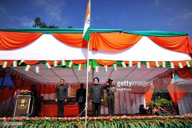 People holding the tricolor India Flag during 72nd Independence Day celebrated in Kathmandu Nepal on Wednesday August 15 2018