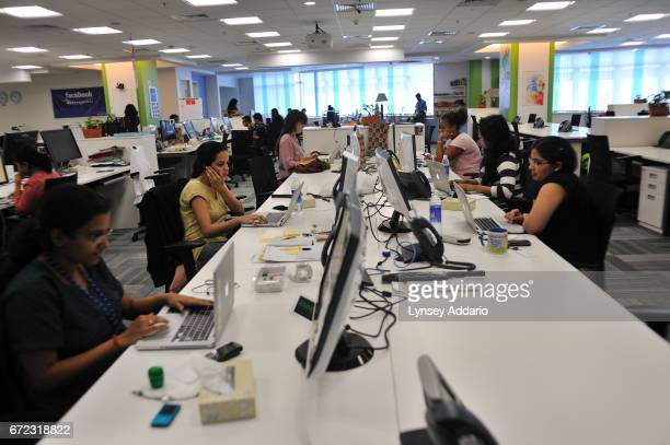 Indian and American employees work out of the Facebook offices in Hyderabad India December 1 2010 The offices were recently opened in September 2010...
