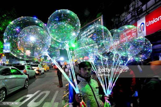 Indian and foreign tourist ganders the Kolkata Park street area and celebrates the 31 st Night end of the 2018 on December 312018 in Kolkata cityIndia