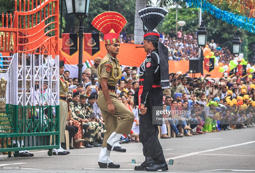 Indian and Pakistan Soldiers @ Wagah Border Ceremony, Punjab, Pakistan, August 2015