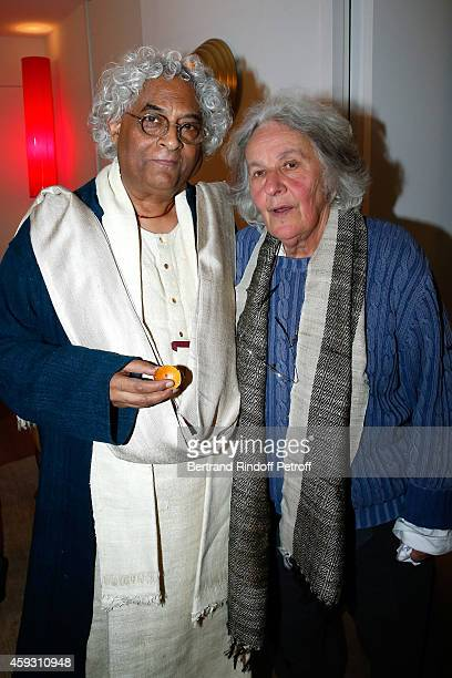 Indian Architect Rajeev Sethi and Stage Director Ariane Mnouchkine attend Helene Cixous receives Insignia of Officer of the Legion of Honor at the...