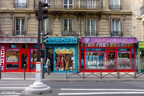 Indian area 'faubourg Saint Denis' street in Paris on January 8 2017 in Paris France