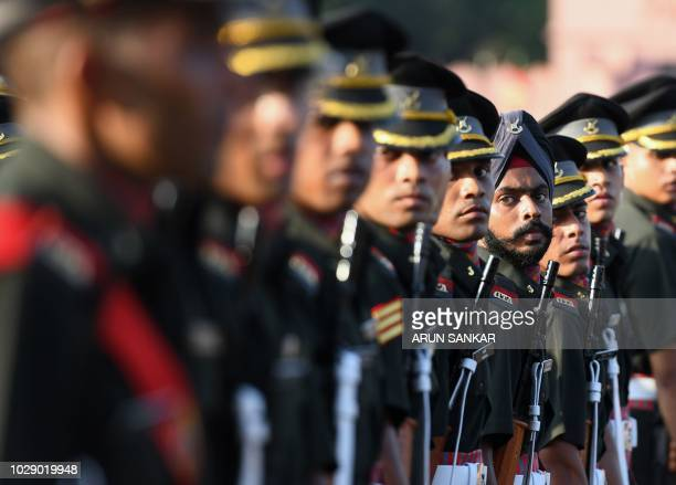 Indian army cadets march during their graduation ceremony at the Officers Training Academy in Chennai on September 8 2018 A total of 252 cadets...