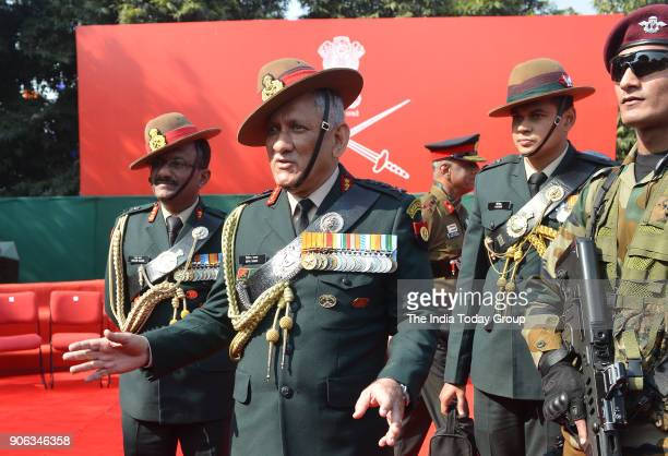 Indian army chief Bipin Rawat during the army Day parade in New Delhi