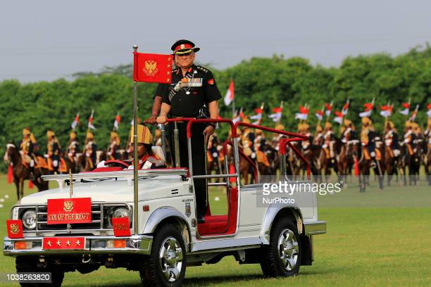 Indian Army Chief General Bipin Rawat inspecting the mounted parade during the centenary celebration of Battle of Haifa 1918-2018 , at 61 Cavalry...
