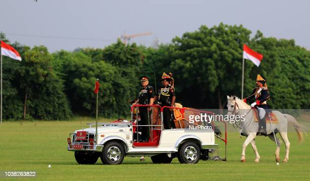 Indian Army Chief General Bipin Rawat inspecting the mounted parade during the centenary celebration of Battle of Haifa 19182018 at 61 Cavalry Ground...