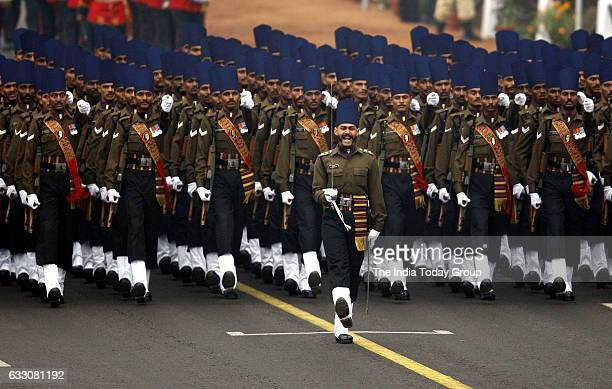 Indian Army contingent march during Republic Day parade in New Delhi