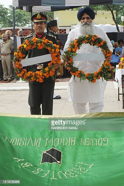 Indian Army Golden Arrow Division 38th Infantry Brigade Commander Rajendra V Desai and Punjab state Chief Parliament Secretary for Rural Water Supply...