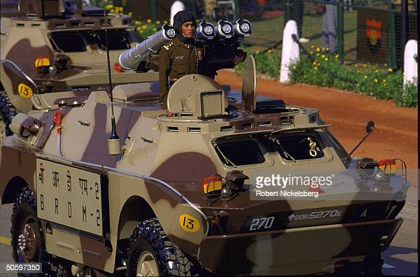Indian Army Mechanized Column Soviet-made BRDM-2 amphibious vehicle on display in Republic Day parade.