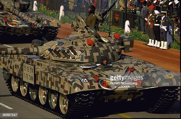 Indian Army Mechanized Column Sovietmade T72 tank on display in Republic Day parade