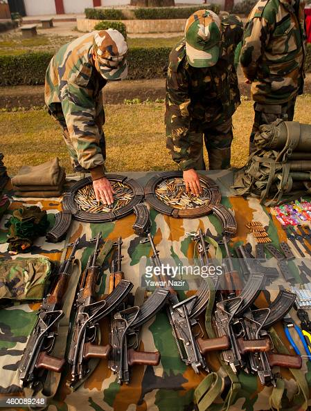 Indian Army Display Seized Arms In Kashmir Photos and ...