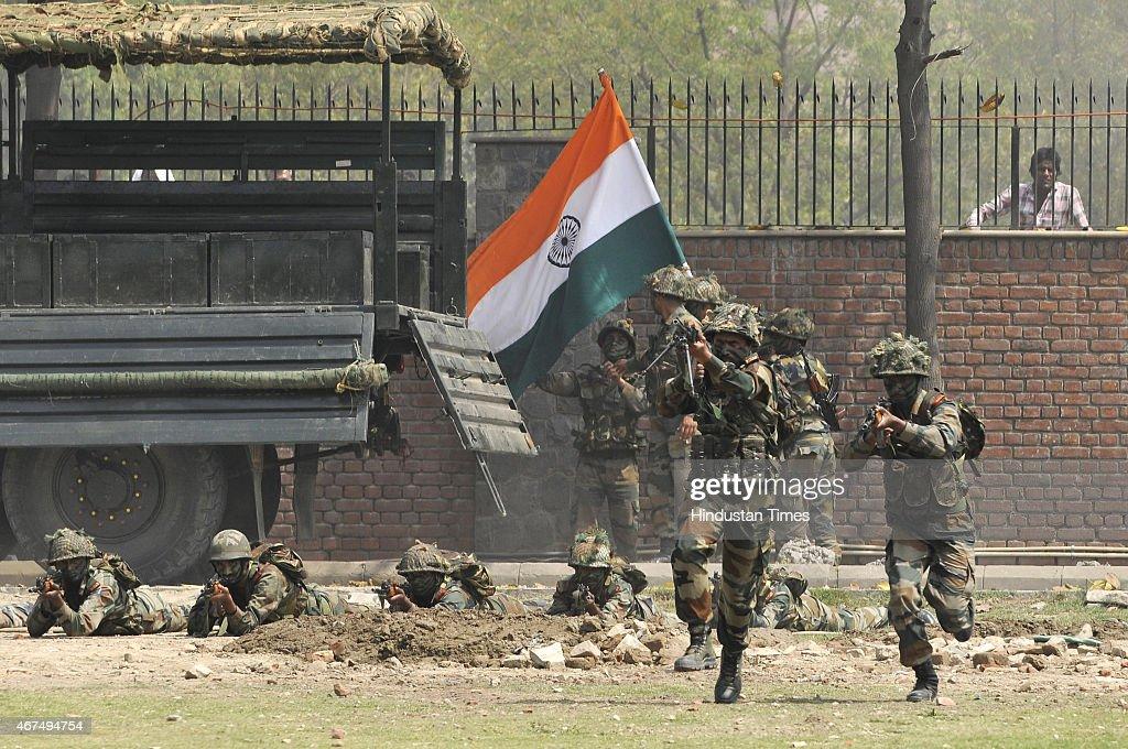 Army Mock Drill At Amity University : News Photo