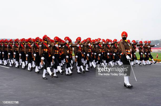 Indian Army Soldiers during Army Day Parade in New Delhi