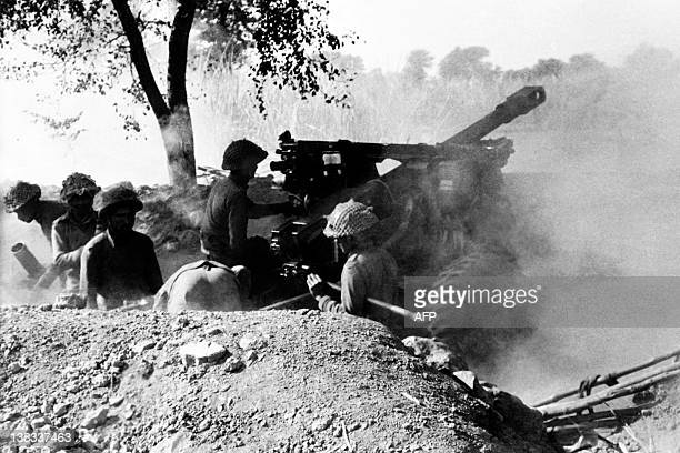 Indian army soldiers fire on Palistani positions on December 15 1971 during the IndoPakistani War of 1971 This war between East Pakistan and India...