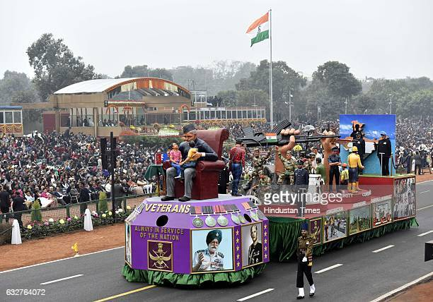 Indian Army's Tableau passing during the celebration of the 68th Republic Day at Rajpath on January 26 2017 in New Delhi India India celebrates its...