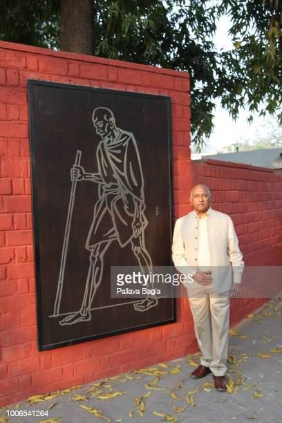 Indian astronaut Wing Commander Rakesh Sharma age 69 years outside the home of Mahatma Gandhi in Ahmedabad Till date remains the only Indian national...