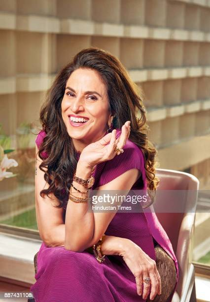 Indian author and columnist Shobhaa De during an exclusive interview with HT BrunchHindustan Times at the JW Marriott on November 20 2017 in Mumbai...