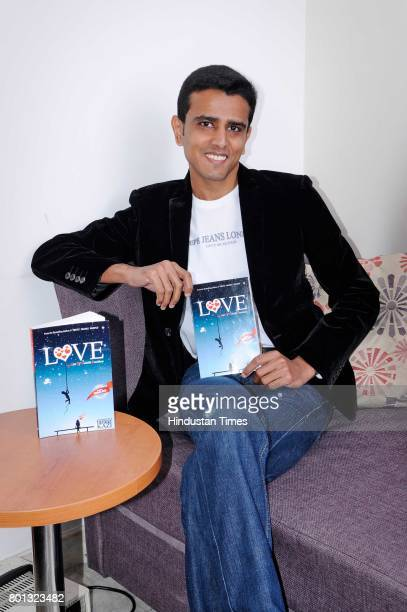 Indian author and writer Faraaz Kazi with his new book during an exclusive interview with Hindustan Times for the special feature on February 6 2015...
