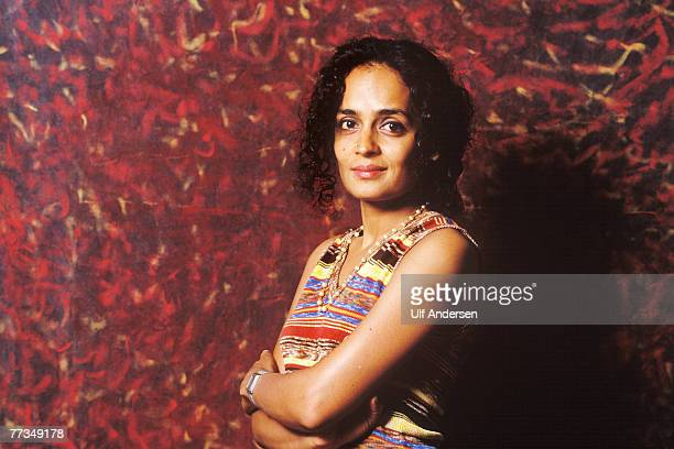 Indian author Arundhati Roy poses while in ParisFrance to promote her book on the 23rd April 1998