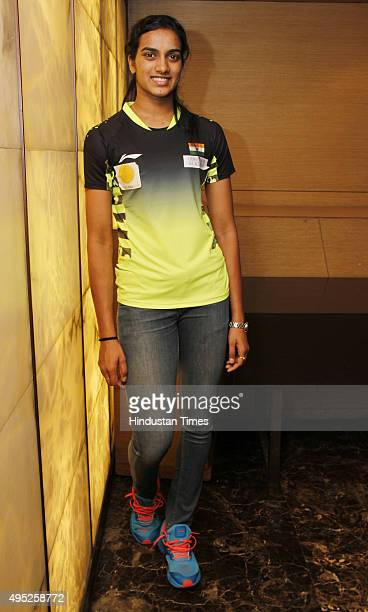 Indian badminton player Pusarla Venkata Sindhu best known as PV Sindhu posing during an interview with Hindustan Times at LeMeridian Hotel on October...