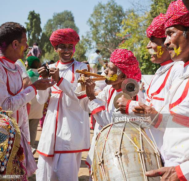 indian band, jaipur, india - indian music stock photos and pictures