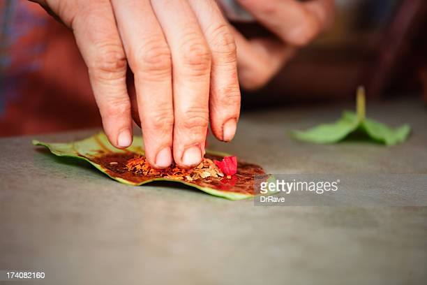 Indian Betle leaf preparation - paan
