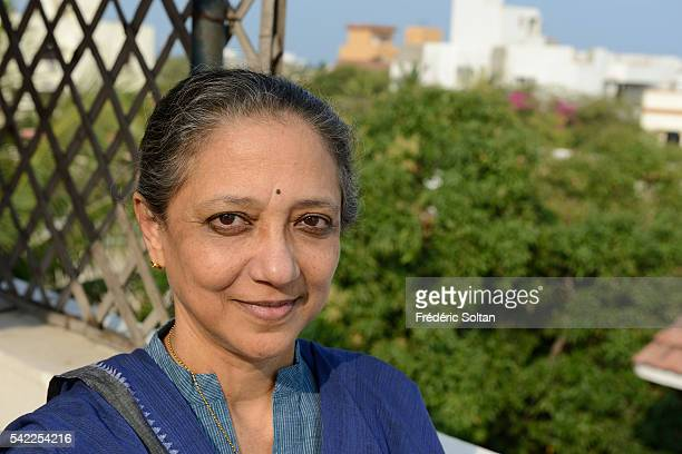 Indian Bharatanatyam dancer choreographer instructor and writer Leela Samson in Chennaï the capital city of the Indian state of Tamil Nadu