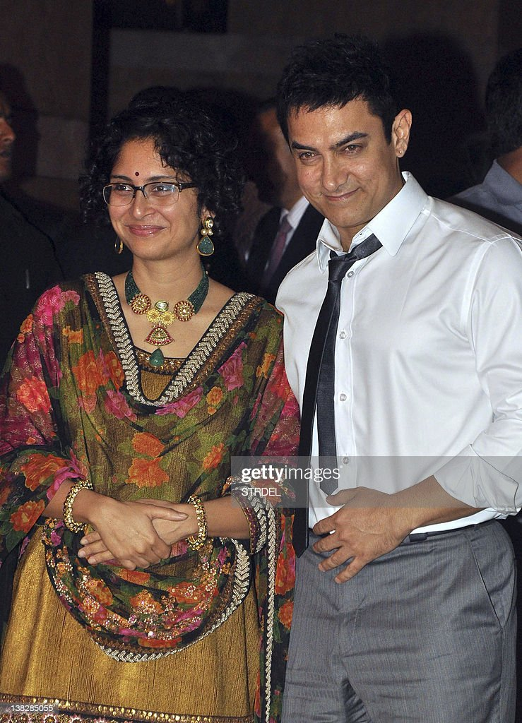 Indian Bollywood Aamir Khan With Wife Kiran Rao Attend The Wedding Reception Of Actors Ritesh Deshmukh