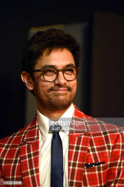 Indian Bollywood actor Aamir Khan attends the opening ceremony of the Jio MAMI 20th Mumbai Film Festival 2018 in Mumbai on October 25 2018