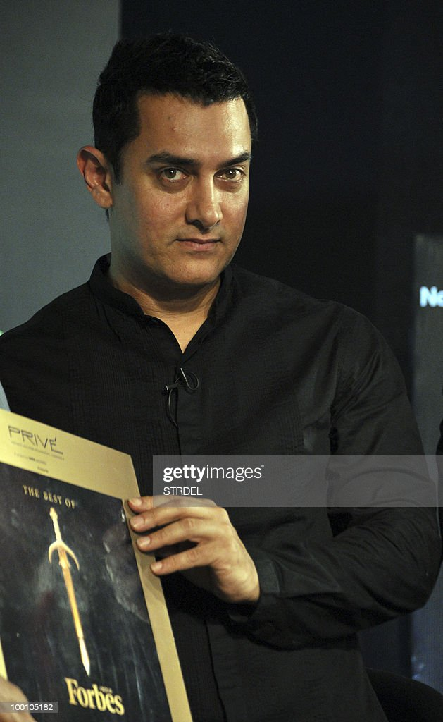 Indian Bollywood actor Aamir Khan unveil