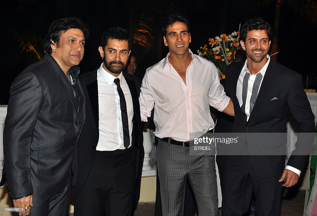 Indian Bollywood Actor Aamir Khan 2l Welcomes The Bolywood Actors And Guests Govinda