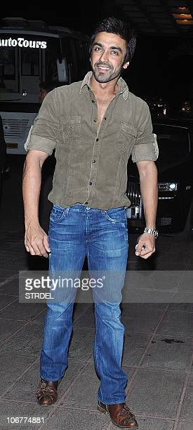 Indian Bollywood actor Aashish Chaudhary arrives for the birthday party of Indian businessman Dheeraj Wadhawan in Mumbai on November 11 2010 AFP...
