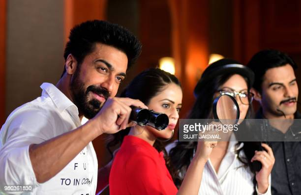 Indian Bollywood actor Aashish Chaudhary poses during the promotion of 'Dev' season 2 aired on Colors TV in Mumbai on June 21 2018