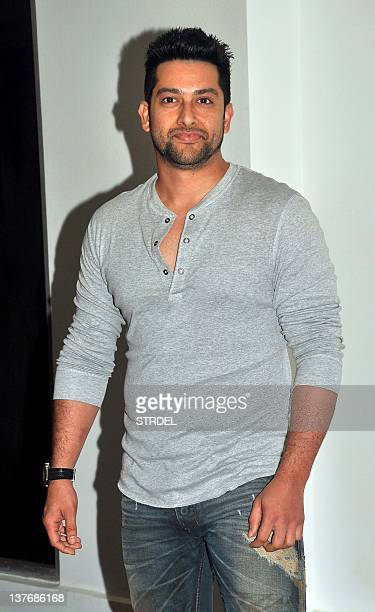 Indian Bollywood actor Aftab Shivdasani attends the prewedding party of Indian Bollywood actors Ritesh Deshmukh and Genelia D'souza in Mumbai on...