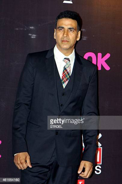 Indian Bollywood actor Akshay Kumar attends the 'Life OK Screen Awards 2015' in Mumbai on January 14 2015 AFP PHOTO/STR